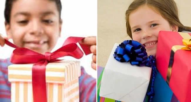 O que dar de presente a uma criança?